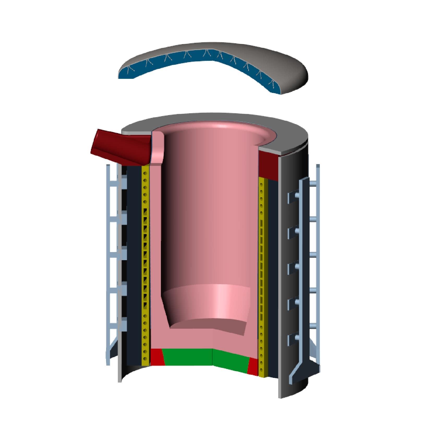 sistemas refractarios horno inducción acerías deguisa