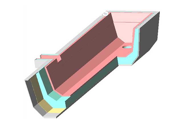 refractarios acerías revestimiento de seguridad para artesas