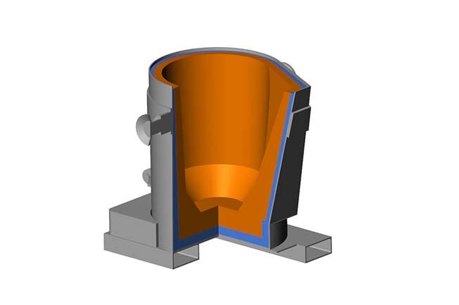 refractarios fundiciones revestimiento cucharas elementos trasvase